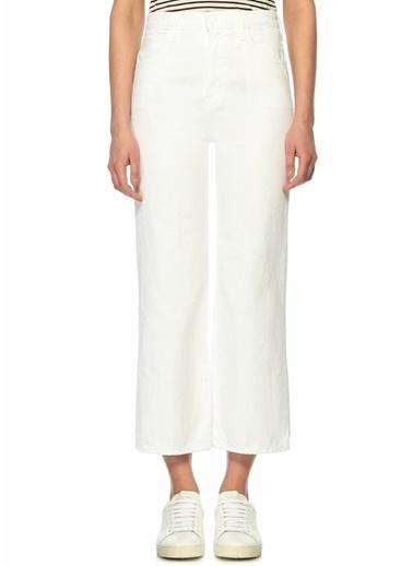 J Brand Yüksek Bel Cropped Paça Jean Pantolon Beyaz